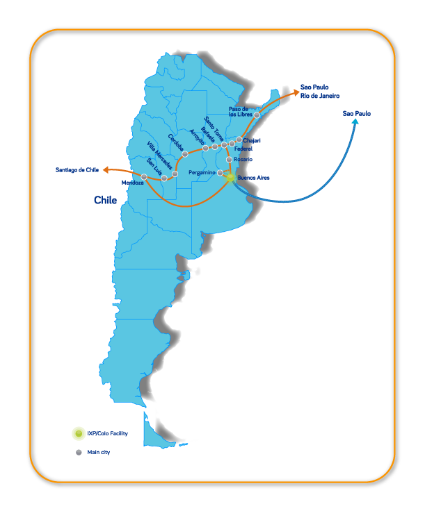 InterNexa coverage in Argentina