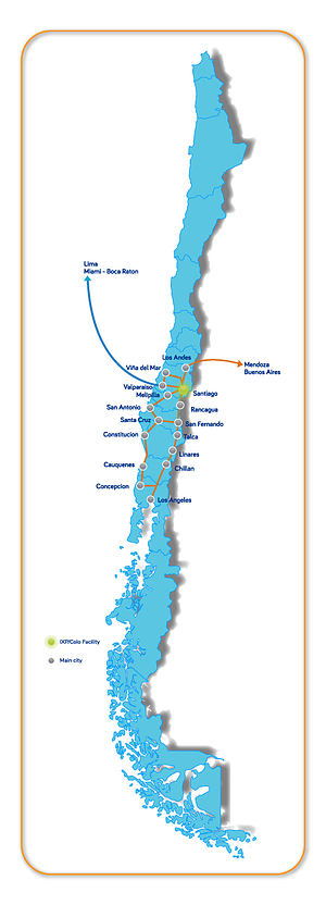 InterNexa coverage in Chile